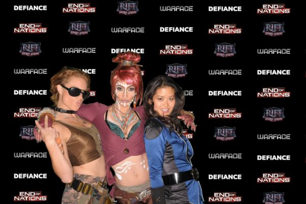Cosplay Characters at the Photo Booth