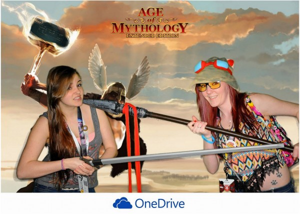 Age of Mythology Green Screen Photo Booth at PAX East