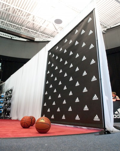 adidas photo booth backdrop stand