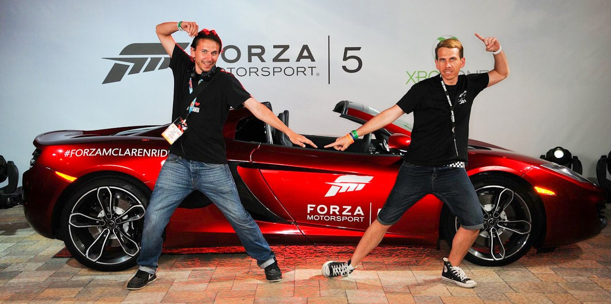 Forza Motorsport 5 red carpet photo booth at E3