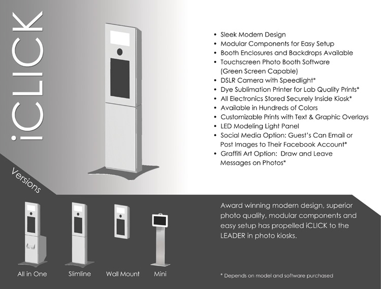 Sleek Modern Photo Booth Kiosk